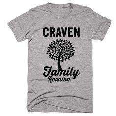CRAVEN Family Name Reunion Gathering Surname T-Shirt