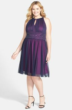Jessica Howard Embellished Waist Shirred Dress (Plus Size) | Nordstrom
