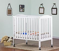 Amazon.com : Dream On Me 3 In 1 Portable Folding Stationary Side Crib,