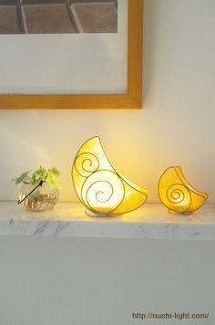 和紙で作るお月様のライト washi-light
