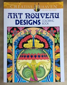 Creative Haven Art Nouveau Designs Coloring Book Adult Coloring Stress Relief  | eBay