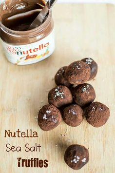 Nutella Sea Salt Truffles!!!! Rich and so yummy! Photography by Carmen Wishlow and truffles made by Carmen's Sweet Creations!