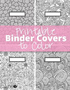 Printable binder covers to color.