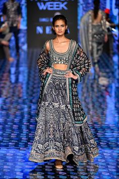 Raw Silk Lehenga, Yellow Lehenga, Lakme Fashion Week, Bridal Fashion Week, Fashion Weeks, Occasion Dresses, Floral Prints, Cold Shoulder Dress, Menswear