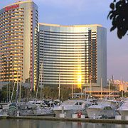 The Marriott Marquis & Marina, set on the San Diego Bay. An incomparable location is the backdrop to an incomparable hotel. With so many amenities, business and pleasure become a memorable vacation. #sandiego #hotel #bay