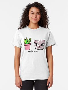 """""""You're Next: Evil Cat and House Plant"""" T-shirt by grumblebeeart 