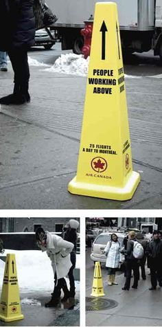 Air Canada, People working above