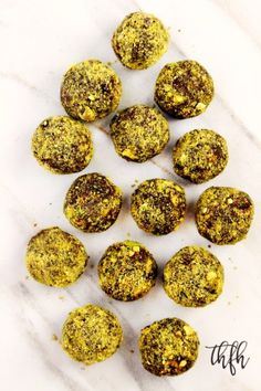 Lectin-Free Vegan Chocolate Avocado Pistachio Truffles