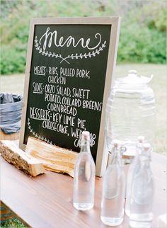 #menusign #chalkboardsign @weddingchicks