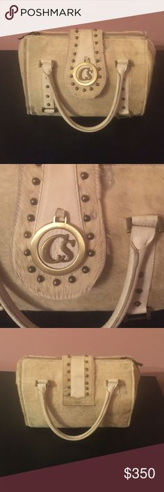Carmen Steffens hand bag This beautiful handbag is made out of horse fur...designer Carmen Steffens carmen steffens Bags Satchels