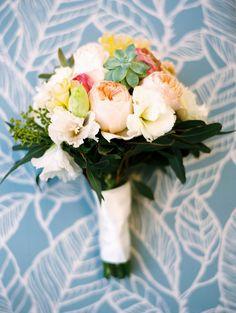 Hawaii wedding bouquet | Read More: http://www.stylemepretty.com/destination-weddings/2014/06/16/sunshine-soaked-hawaiian-beach-wedding/ | Photography: Wendy Laurel - www.wendylaurel.com