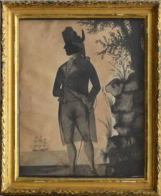 ATTRIBUTED TO WILLIAM WELLINGS: FULL-LENGTH PORTRAIT OF ADMIRAL HOOD - Price Estimate: $300 - $500