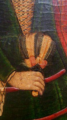 PERE GARCIA DE BENAVARRI, Banchetto d'Erode, 1470 c. (dett. ventaglio); acquisizione della collezione Muntadas, 1956; MNAC di Barcellona, inv. 64060