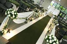 Resultado de imagem para corredor igreja casamento