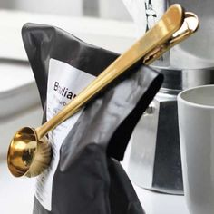 Coffee Spoon Doubles As Clip #Under-$50 #For-Men #For-Women