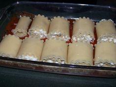 cheesy lasagna rolls.  easier to make than regular lasagna.  the kids likes it.  a good vegetarian dish.