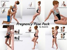 Mod The Sims - PREGNANCY POSE PACK By: Mashelle