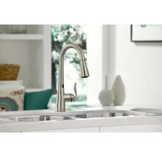 Moen Arbor With Motionsense Touchless One Handle High Arc Pulldown Kitchen  Faucet Featuring Reflex, Spot Resist Stainless