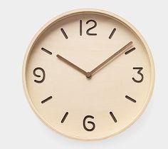 14 Wall Clocks That Make Us Tick: Bi-Color Plywood Clock ($95)