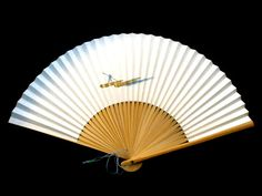 Japanese Hand Fan Japanese Boatman Crossing by VintageFromJapan, $9.50