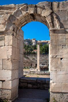 θέα από τη Βιβλιοθήκη του Αδριανού, Αθήνα - view from Hadrian's Library, Athens , Greece
