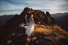 Bayonet Peak, New Zealand wedding portrait. Photo © Jim Pollard
