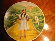 Over The Rainbow From The Wizard Of Oz Collector Plate Collection With Certificate