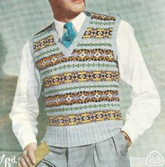 This is a very lovely fair isle pattern from the era of Bridehead Revisited in the UK and the F Scott Fitzgerald era in the US.The colors