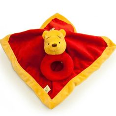 WINNIE THE POOH Security Blanket and Ring Rattle Set