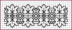 Embroidery leaf border cross stitch 15 ideas for 2019 Embroidery Leaf, Blackwork Embroidery, Cross Stitch Embroidery, Embroidery Patterns, Geek Cross Stitch, Cross Stitch Designs, Cross Stitch Patterns, Graph Paper Drawings, Graph Paper Art