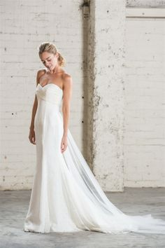Simple elegance with this classic strapless.
