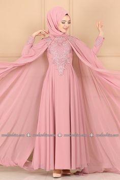 Modaselvim ABİYE Taş ve İncili Pelerinli Abiye ALM52744 Pudra Muslim Fashion, Hijab Fashion, Picture Letters, Kebaya, The Dress, Aurora Sleeping Beauty, Satin, Disney Princess, Womens Fashion