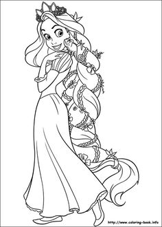 Tangled coloring picture