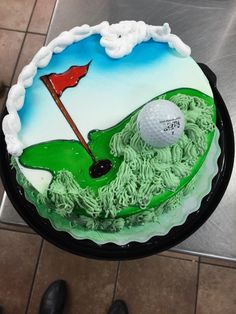 Dairy Queen cake at west henday dq Golf Birthday Cakes, Birthday Treats, Dairy Queen Cake, Cake Decorating Books, Cake Icing, Piping Icing, Cake Decorating For Beginners, Fathers Day Cake, Round Cakes