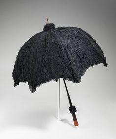 Mourning Parasol, 1895-1900. The Metropolitan Museum of Art, Brooklyn Museum Costume Collection at The Metropolitan Museum of Art, Gift of the Brooklyn Museum, 2009; Gift of Rachel Trowbridge, 1960 (2009.300.2478) | This parasol is featured in our #DeathBecomesHer exhibition on view through February 1, 2015. #Halloween