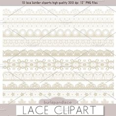 Clipart beige lace borders by burlapandlace on @creativemarket