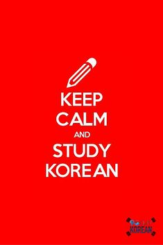 Keep calm and study Korean  #90DayKorean #LearnKoreanFast #KoreanLanguage