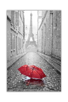 Black and white photo paris eiffel tower with red umbrella canvas wall art print Paris Canvas, Paris Wall Art, Paris Pictures, Paris Photos, Paris Eiffel Tower, Tour Eiffel, Canvas Wall Art, Wall Art Prints