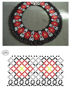Natali Khovalko Diy Necklace Patterns, Beaded Jewelry Patterns, Beading Patterns, Jewelry Making Classes, Knitted Necklace, Bead Jewellery, Handmade Beads, Loom Beading, Bead Weaving