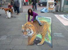 Love sidewalk art