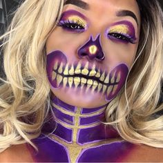 @carlinalawson created this amazing skull look using #Sugarpill #Goldilux loose eyeshadow! We're in LOVE!