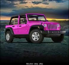 Pink Jeep Wrangler!!Pink Cars, Pink Trucks, Pink SUV, Pink Jeep, pink convertible, Pink limo, Pink Hummer