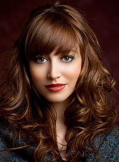 Amazing Attractive Fabulous Long Brown Curly Hair Styles for Women 2014 Fashion Trends Design Remy Human Hair Capless Wig about 20 Inches: w. Warm Brown Hair, Honey Brown Hair, Brown Hair Shades, Brown Curly Hair, Chocolate Brown Hair, Brown Hair With Highlights, Light Brown Hair, Brown Hair Colors, Curly Hair With Bangs