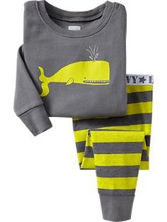 Whale-Graphic PJ Sets for Baby | Old Navy