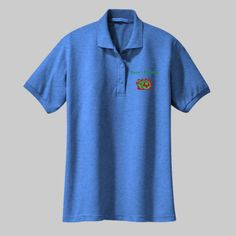 Embroidered Custom Soccer Ladies Silk Touch Polo