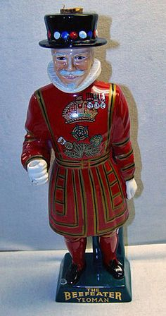 Vintage Beefeater Yeoman Ceramic Decanter 1960s Carltonware Staffordshire 16""