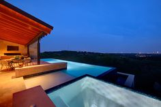 Hill Country Retreat - modern - swimming pools and spas - other metro - Materials Marketing Hill Country Homes, Stone Gallery, Modern Pools, Dream Pools, Beautiful Pools, Cool Rooms, Led, Swimming Pools, House Design