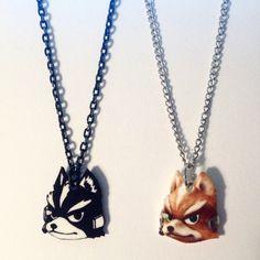 Fox McCloud Star Fox Super Smash Bros Necklace by TeamRocketWolf