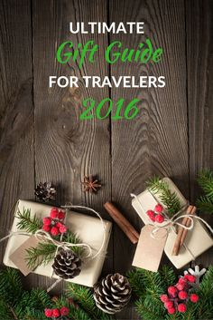 Ultimate Holiday Gift Guide for Travelers 2016: Buying gifts for everyone on your list is hard, which is why this holiday gift guide is one of the best you will find this season because it has something for everyone, but most especially for the travel lover in your life.