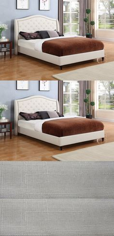 Beds and Bed Frames 175758: Bed Frame Twin Full King Queen Size Platform Tufted Headboard Bedroom Furniture -> BUY IT NOW ONLY: $228 on eBay!